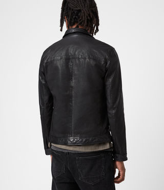 Men's Lark Leather Jacket (Black) - product_image_alt_text_8