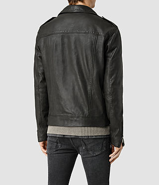 Hommes Kahawa Leather Biker Jacket (ANTHRACITE GREY) - product_image_alt_text_3
