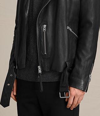 Mens Kahawa Leather Biker (Jet Black) - product_image_alt_text_4