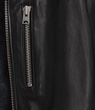 Herren Kahawa Leather Biker Jacket (Jet Black) - product_image_alt_text_5