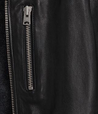 Mens Kahawa Leather Biker (Jet Black) - product_image_alt_text_5