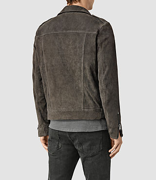 Hombre Takeo Suede Biker Jacket (ANTHRACITE GREY) - product_image_alt_text_4