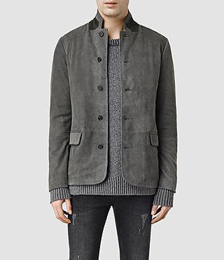 Mens Neston Leather Blazer (ANTHRACITE GREY)
