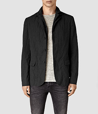 Mens Hiraku Blazer (Charcoal) - product_image_alt_text_1