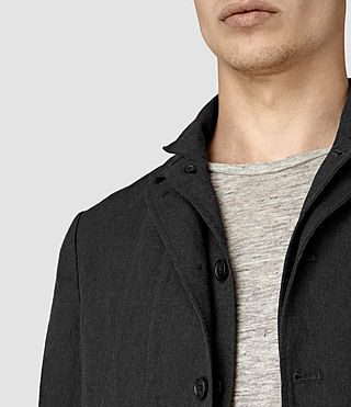 Mens Hiraku Blazer (Charcoal) - product_image_alt_text_2