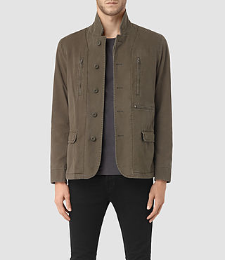 Hombre Base Blazer (Dark Khaki) - product_image_alt_text_1