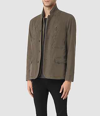 Hommes Base Blazer (Dark Khaki Green) - product_image_alt_text_2