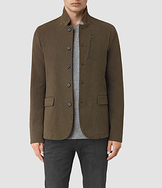 Mens Bryson Blazer (Khaki Green) - product_image_alt_text_1