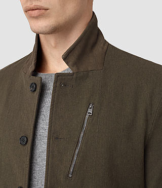 Mens Bryson Blazer (Khaki Green) - product_image_alt_text_2