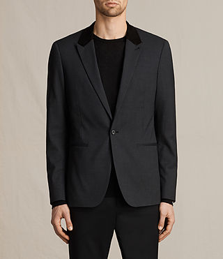 Mens Mavis Blazer (Charcoal) - product_image_alt_text_1
