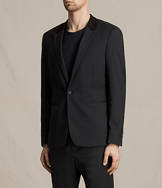 Men's Mavis Blazer (Black) - product_image_alt_text_3