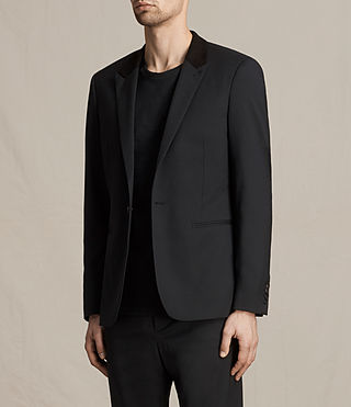 Men's Mavis Blazer (Black) - product_image_alt_text_4