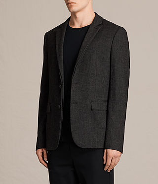 Men's Dayton Blazer (Charcoal Grey) - product_image_alt_text_3