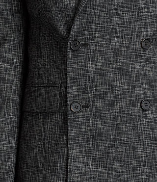 Men's Farndale Double-Breasted Blazer (Black/Grey) - Image 2