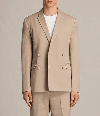Men's Elmore Blazer (SAND BROWN) - Image 3