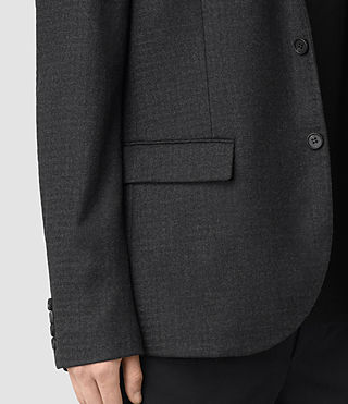 Men's Eldon Blazer (Charcoal Grey) - product_image_alt_text_2