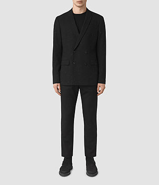 Mens Larkin Blazer (Black/White) - product_image_alt_text_1