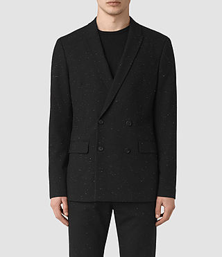Mens Larkin Blazer (Black/White) - product_image_alt_text_2