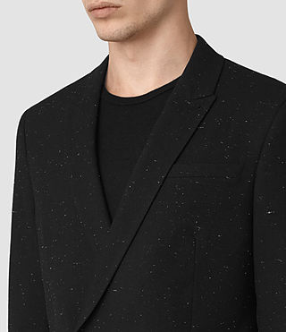 Mens Larkin Blazer (Black/White) - product_image_alt_text_3