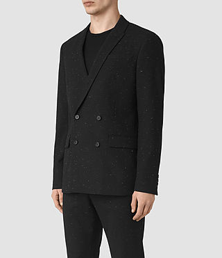Mens Larkin Blazer (Black/White) - product_image_alt_text_4