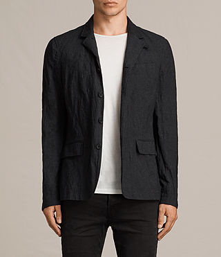 Men's Strat Blazer (Charcoal Grey) - product_image_alt_text_1
