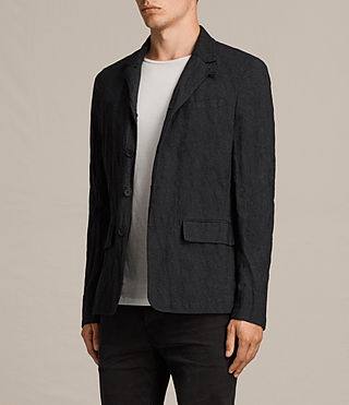 Men's Strat Blazer (Charcoal Grey) - product_image_alt_text_3