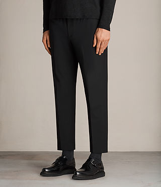 Mens Kente Tapered Pant (Black) - Image 3