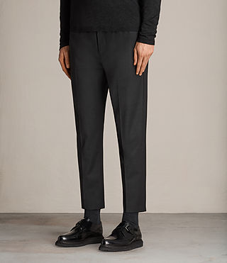 Men's Vernon Tapered Trouser (Charcoal Grey) - Image 3