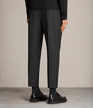 Men's Vernon Tapered Trouser (Charcoal Grey) - Image 4