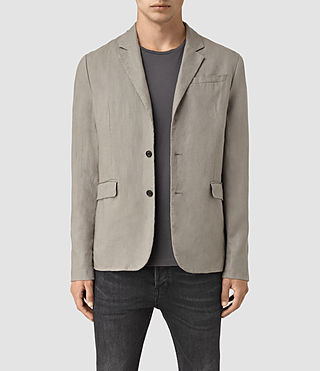 Mens Dekalb Linen Blazer (Steel Grey)