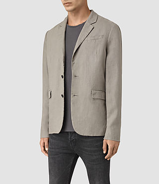 Uomo Dekalb Linen Blazer (Steel Grey) - product_image_alt_text_2