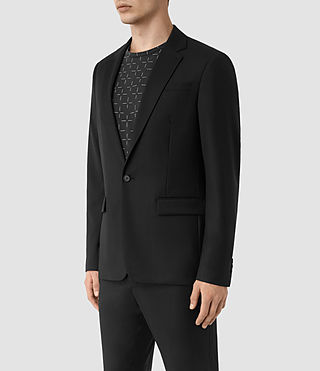 Men's Tera Wool Blazer (Black) - product_image_alt_text_2