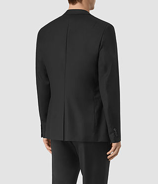 Men's Tera Wool Blazer (Black) - product_image_alt_text_3