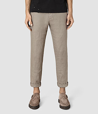 Mens Dekalb Linen Pant (Steel Grey)