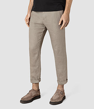 Hombres Dekalb Linen Trouser (Steel Grey) - product_image_alt_text_2