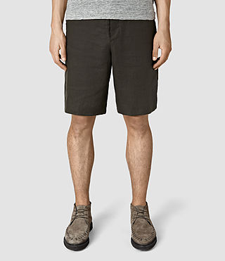 Mens Dekalb Linen Short (ANTHRACITE GREY) - product_image_alt_text_1