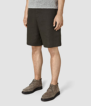 Mens Dekalb Linen Short (ANTHRACITE GREY) - product_image_alt_text_2