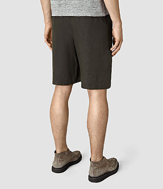 Mens Dekalb Linen Short (ANTHRACITE GREY) - product_image_alt_text_3