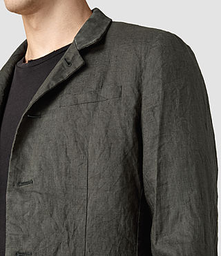 Mens Canarsie Linen Blazer (ANTHRACITE GREY) - product_image_alt_text_2