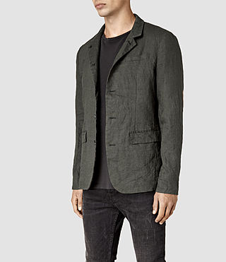Mens Canarsie Linen Blazer (ANTHRACITE GREY) - product_image_alt_text_3