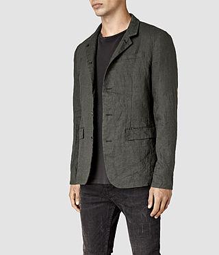 Mens Canarsie Linen Blazer (ANTHRACITE GREY) - product_image_alt_text_3