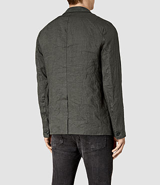 Mens Canarsie Linen Blazer (ANTHRACITE GREY) - product_image_alt_text_4