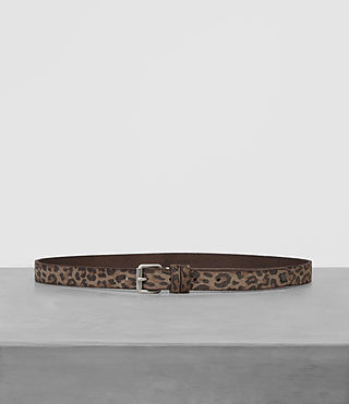 Mens Amur Skinny Belt (Leopard) - product_image_alt_text_1