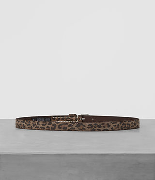 Mens Amur Skinny Belt (Leopard) - product_image_alt_text_2