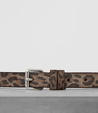 Mens Amur Skinny Belt (Leopard) - product_image_alt_text_3