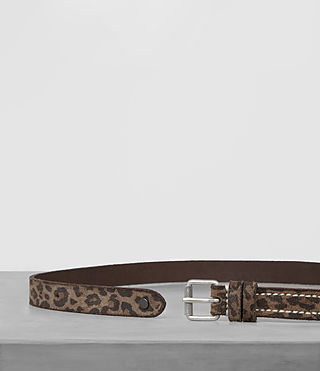 Mens Amur Skinny Belt (Leopard) - product_image_alt_text_4