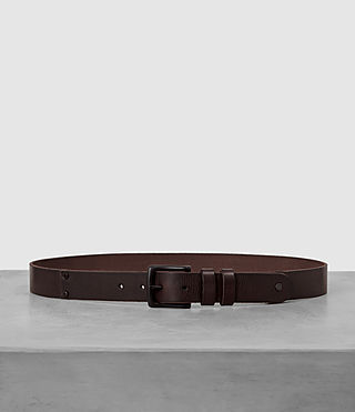 Hombre Slim Annex Leather Belt (Bitter Brown)