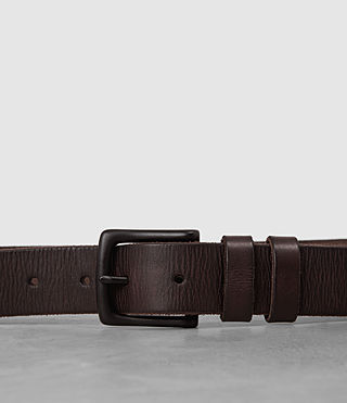 Hombre Slim Annex Leather Belt (Bitter Brown) - Image 2