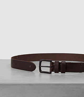 Hommes Slim Annex Leather Belt (Bitter Brown) - product_image_alt_text_3