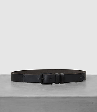 Hombres Slim Annex Leather Belt (MOUNTAIN GREY)